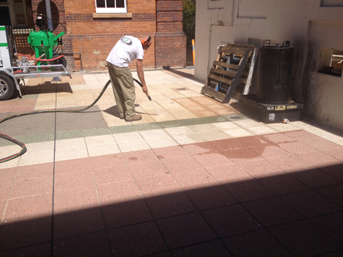 concrete cleaning weis contractors