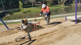 sandpit cleaning